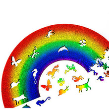 Load image into Gallery viewer, Rainbow Wooden Jigsaw Puzzle - Paradise Rainbow