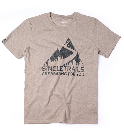 SINGLE TRAILS MEN'S T-SHIRT