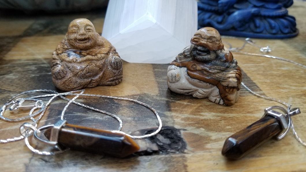 bundle is for One buddha and One tiger's eye pendant. Variation in stones is normal..