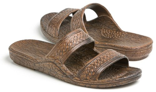 Brown Double STRAP Jandals SHOE135 - Bless UR Heart Boutique