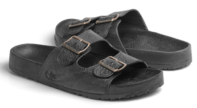 Black Double Buckle Jandal SHOE141 - Bless UR Heart Boutique