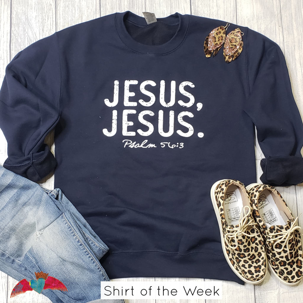 Jesus, Jesus Crew Sweatshirt **Shirt Of the Week** - Bless UR Heart Boutique