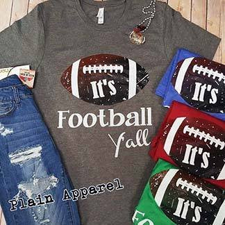 It's Football Y'all Crew Neck - Bless UR Heart Boutique