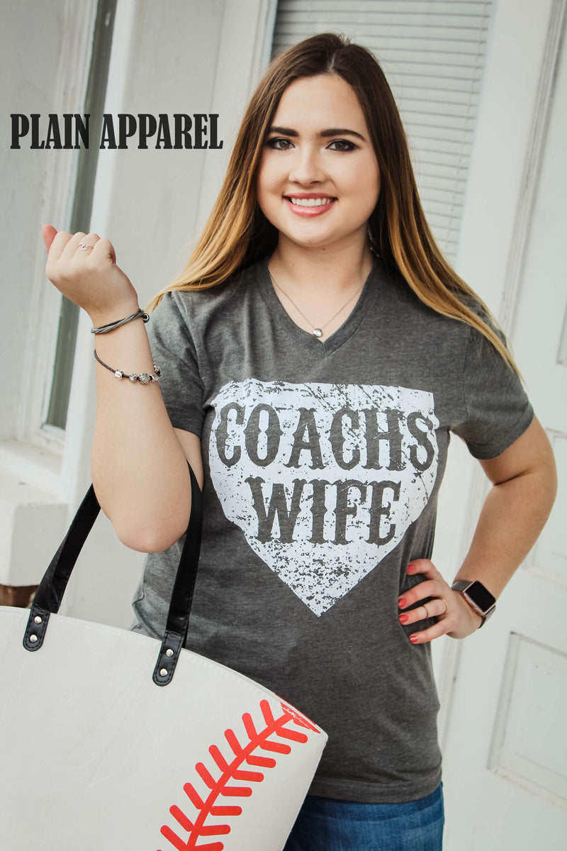 Baseball/Softball Coaches Wife V-Neck Tee - Bless UR Heart Boutique