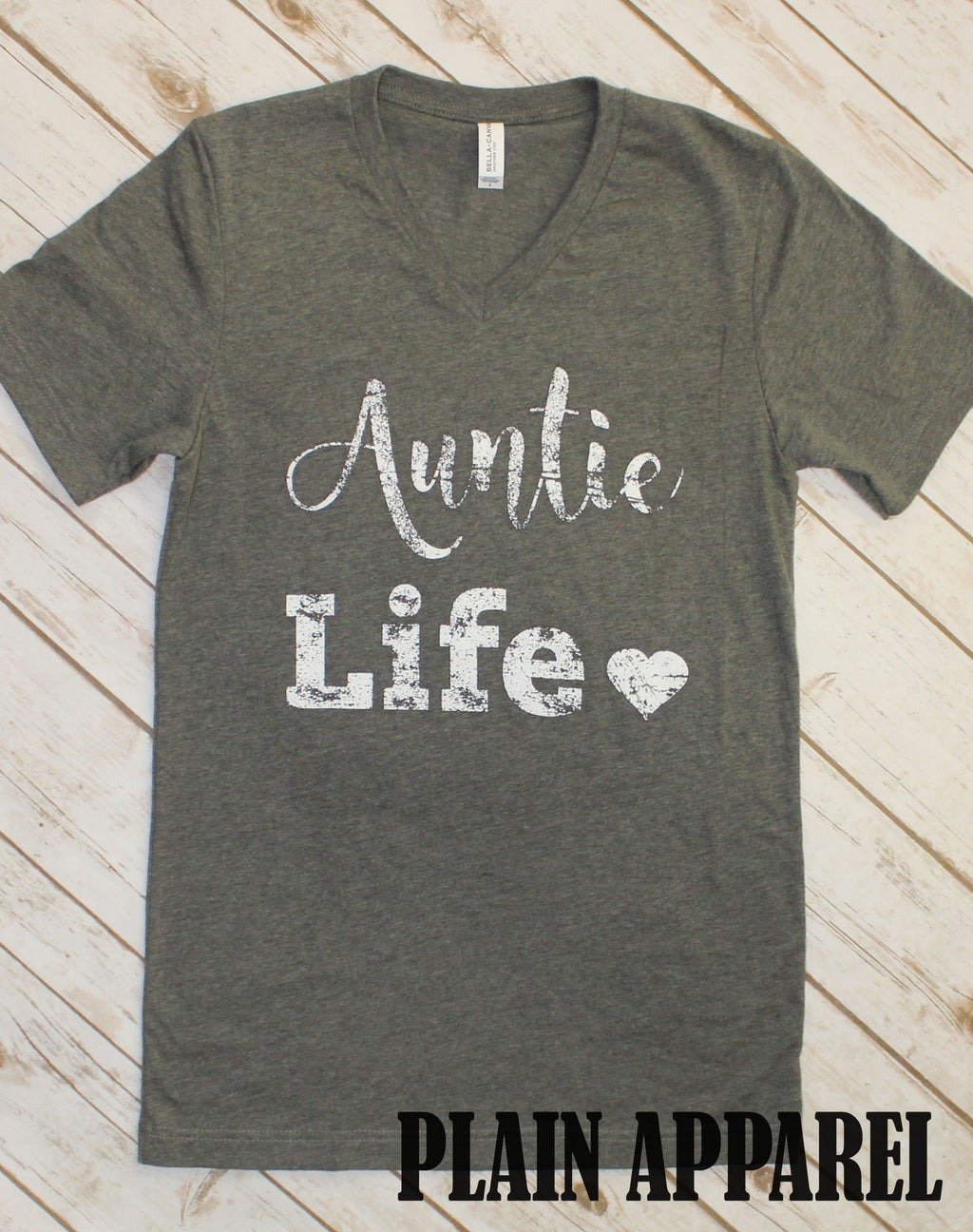 Auntie Life V-Neck - Bless UR Heart Boutique