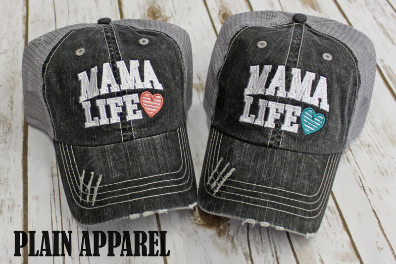 Mama Life Life Ball Cap - Bless UR Heart Boutique