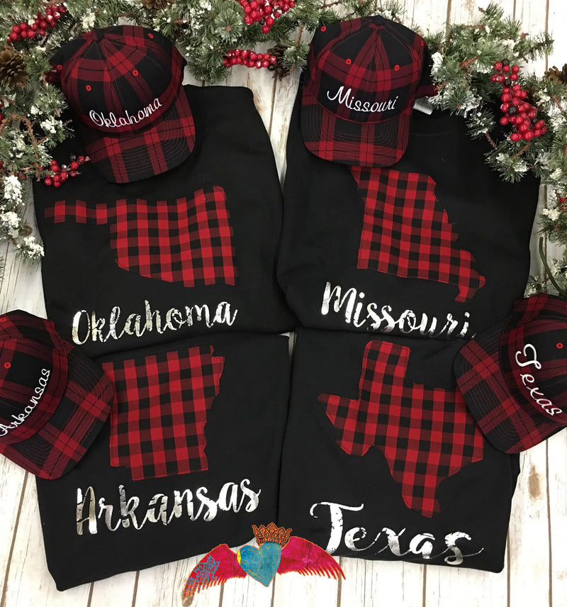 STATE Buffalo Plaid Crew Sweatshirts - Bless UR Heart Boutique