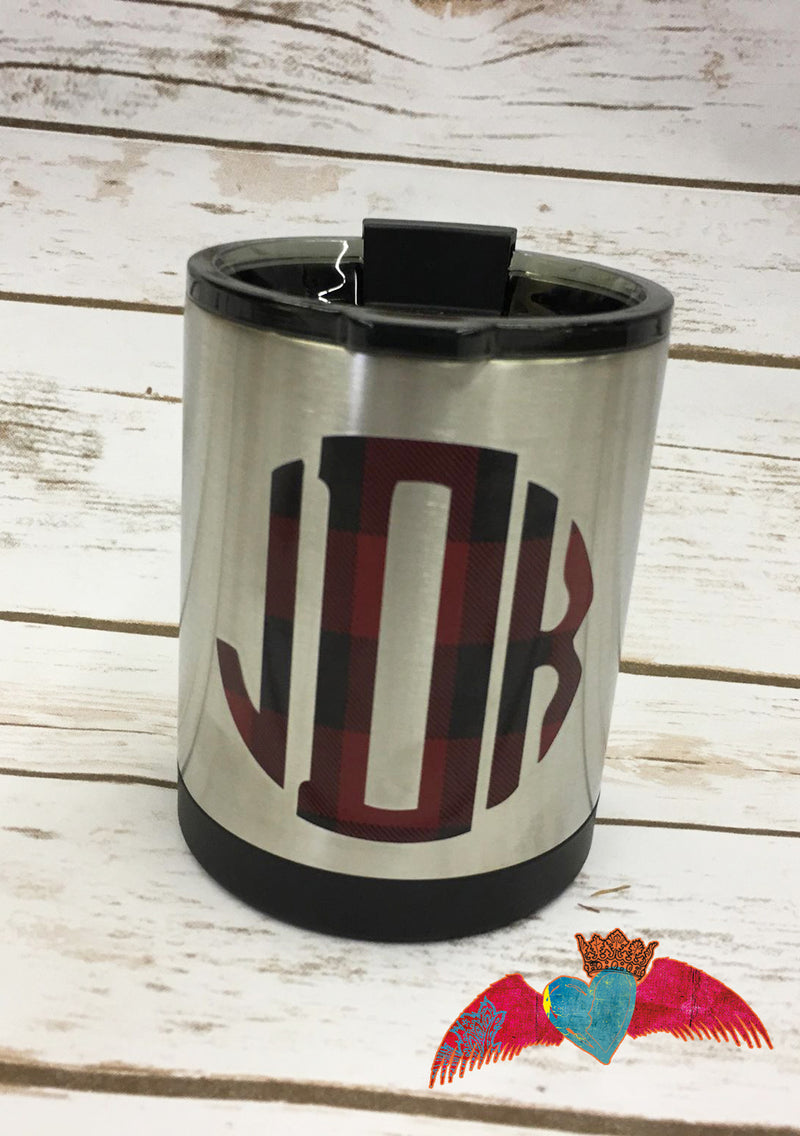 Buffalo Plaid Monogram Lowball RTIC Tumbler