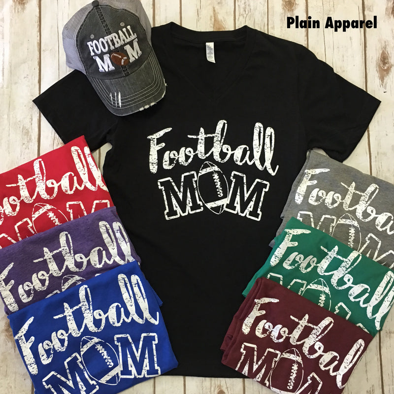 Football Mom V-Neck