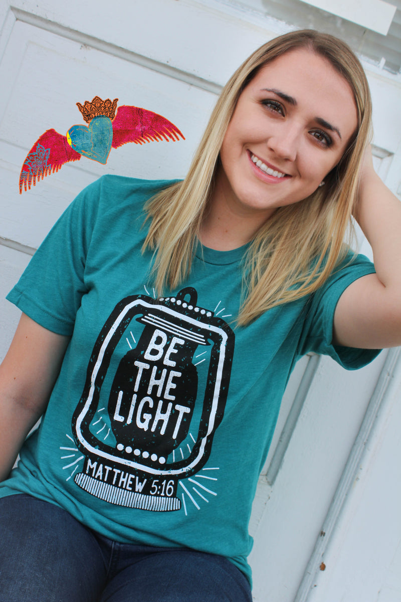 Be The Light Crew Neck Tee - Bless UR Heart Boutique