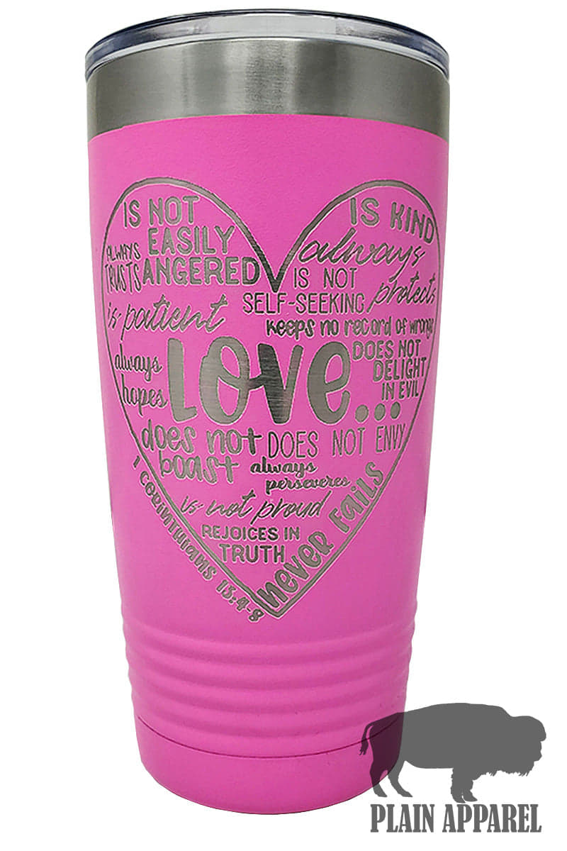 Love Is... Engraved Tumbler - Bless UR Heart Boutique