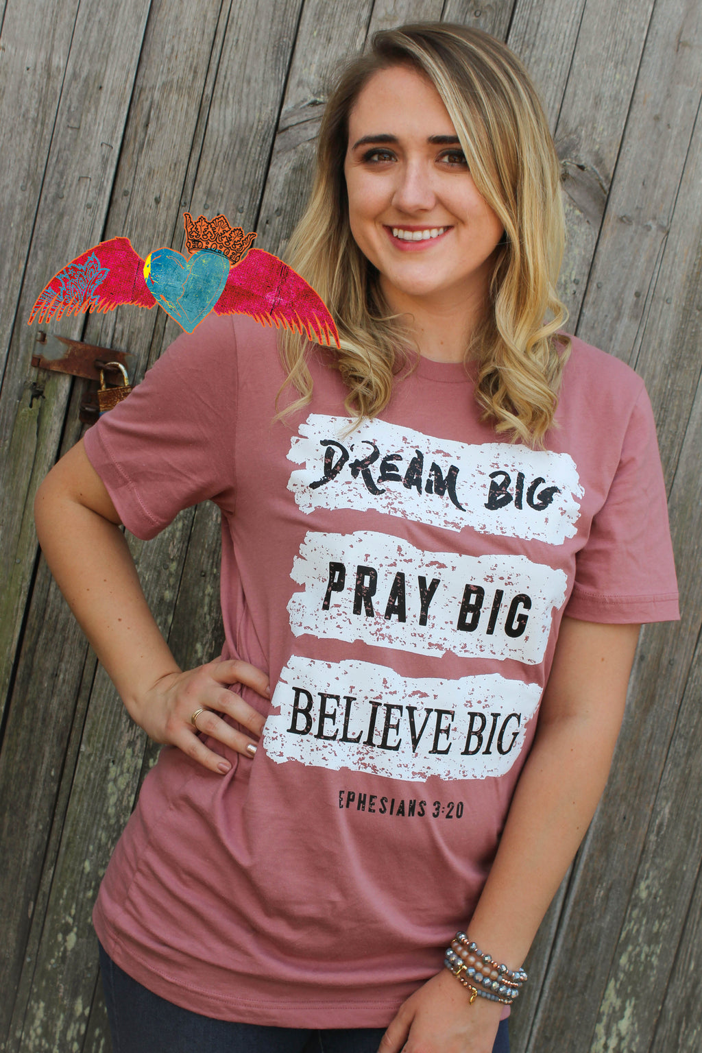 Dream Big, Pray Big, Believe Big Tee - Bless UR Heart Boutique