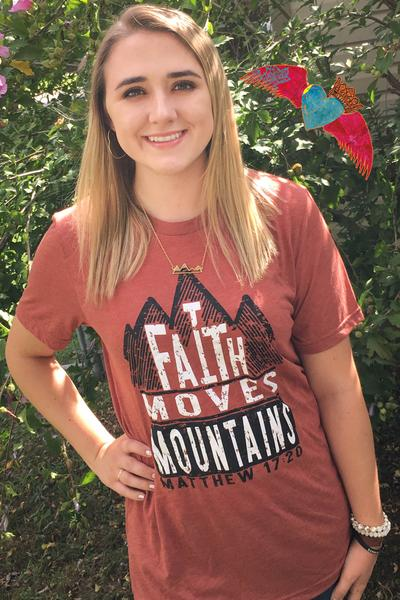 Faith Moves Mountains ••Shirt of the Week•• - Bless UR Heart Boutique