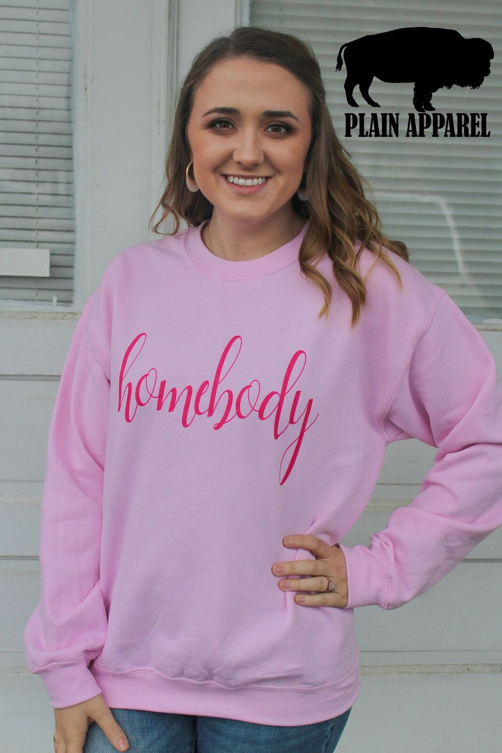 Homebody PINK Sweatshirt - Bless UR Heart Boutique