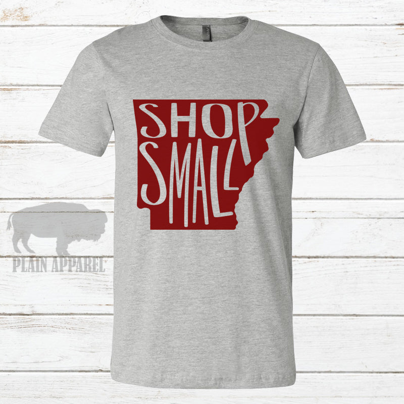 AR Shop Small GRAY Crew Neck Tee - Bless UR Heart Boutique