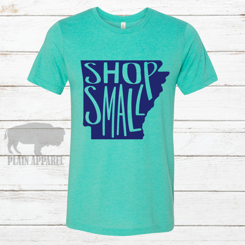 AR Shop Small SEA GREEN Crew Neck Tee - Bless UR Heart Boutique