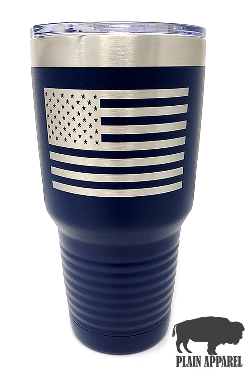 American Flag Engraved Tumbler - Bless UR Heart Boutique