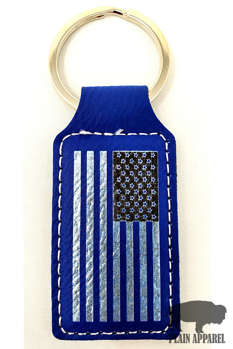 American Flag Engraved Keychain - Bless UR Heart Boutique