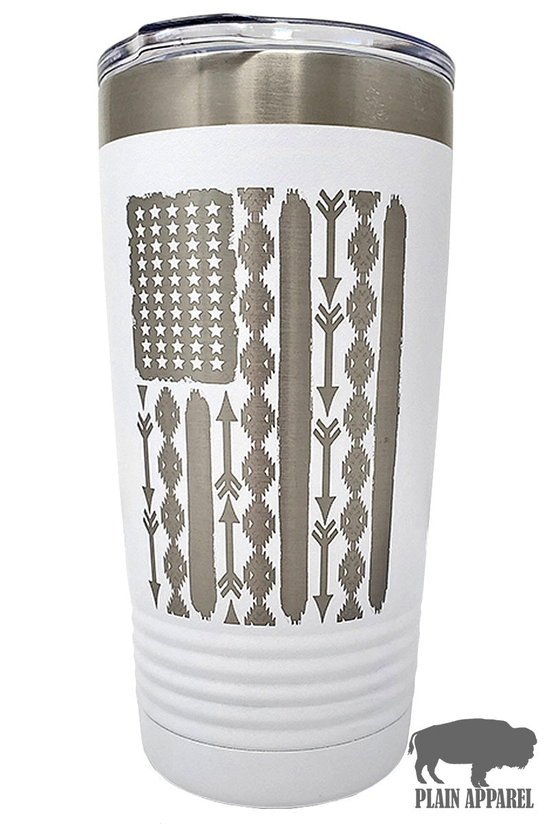 Aztec Flag Engraved Tumbler (Choose from 3 sizes and 14 colors!) - Bless UR Heart Boutique