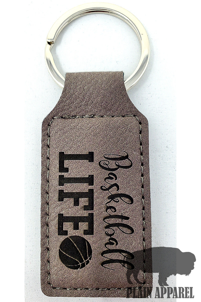 Basketball Life Engraved Keychain - Bless UR Heart Boutique