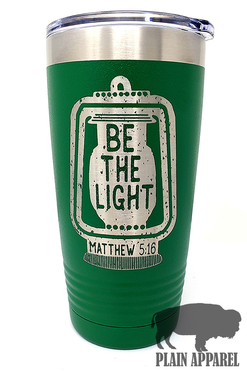 Be The Light Engraved Tumbler - Bless UR Heart Boutique