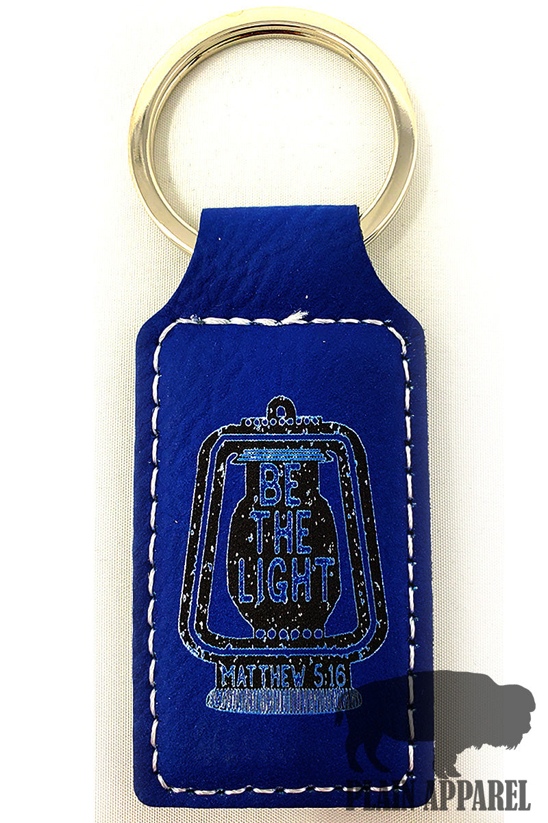 Be The Light Engraved Keychain - Bless UR Heart Boutique