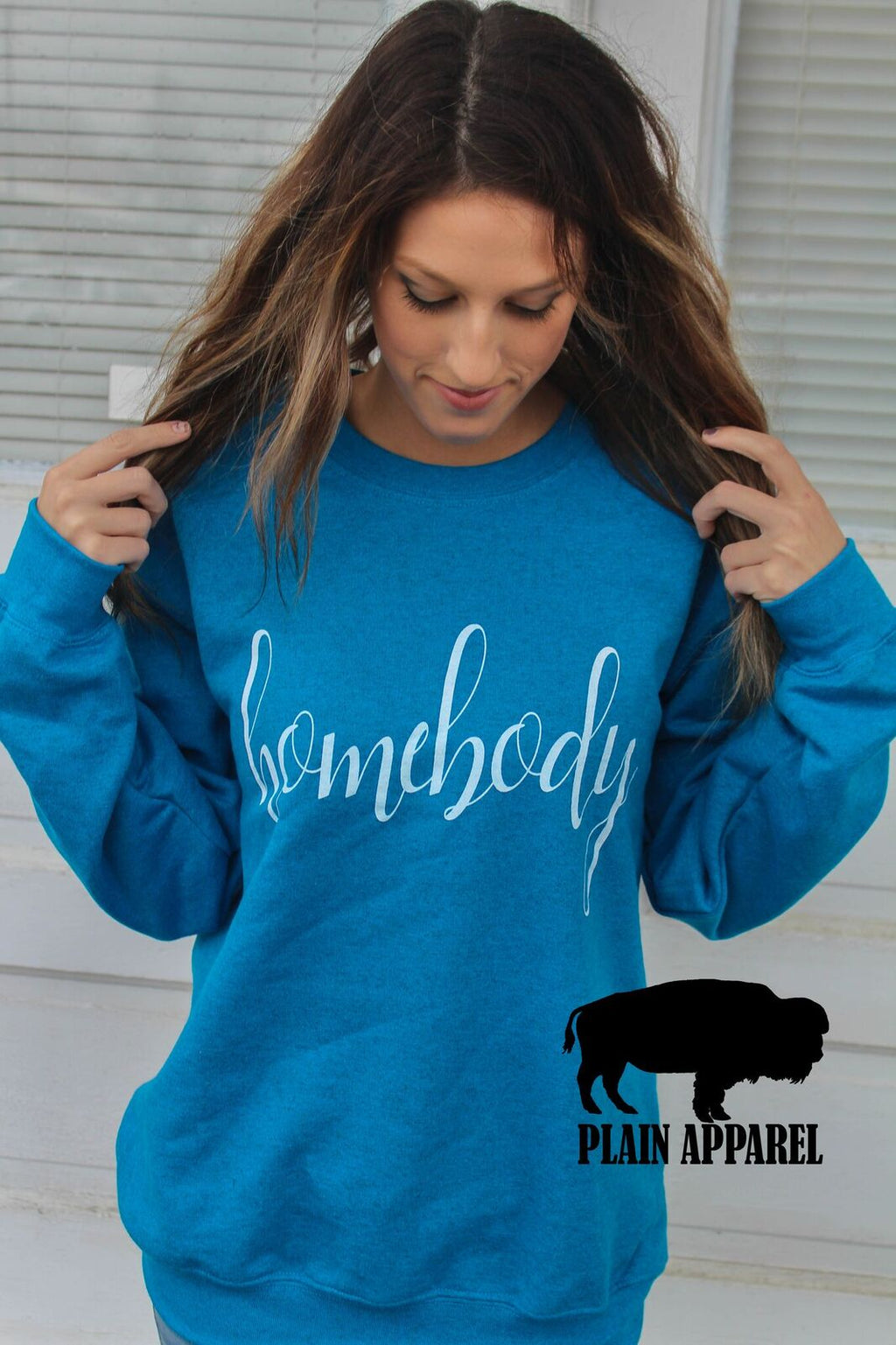 Homebody SAPPHIRE Sweatshirt - Bless UR Heart Boutique