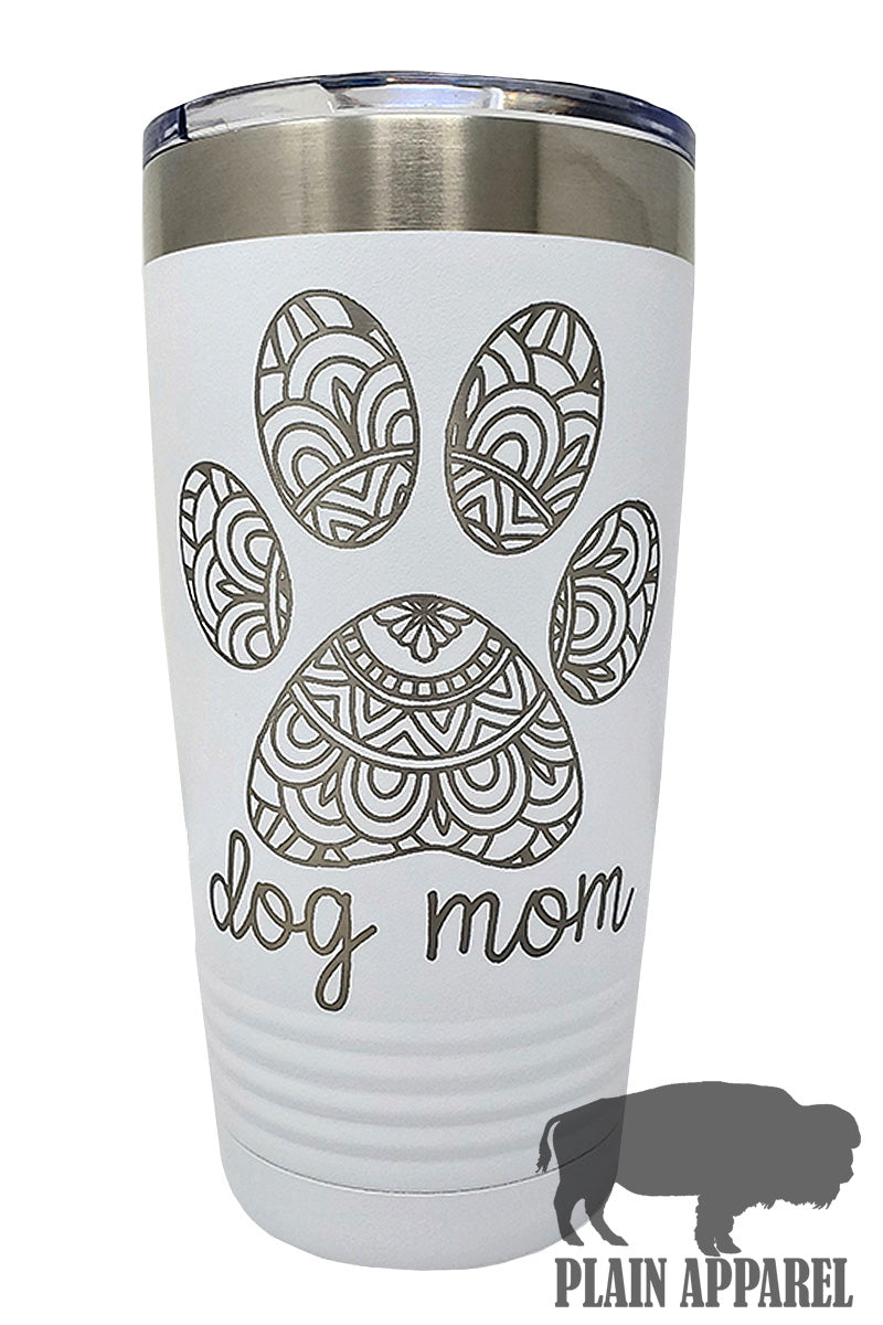 Dog Mom Engraved Tumbler - Bless UR Heart Boutique
