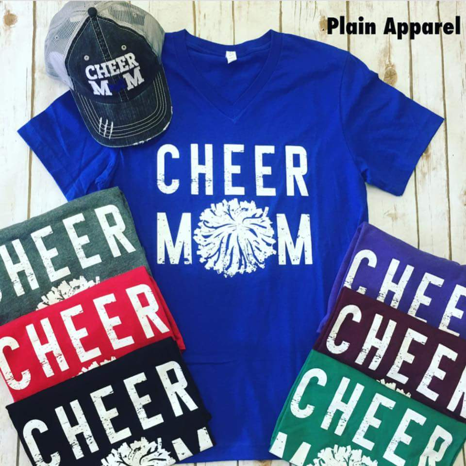 Cheer MOM V-neck