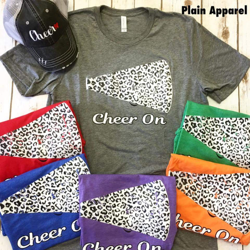 Cheer On Leopard Crew - Bless UR Heart Boutique