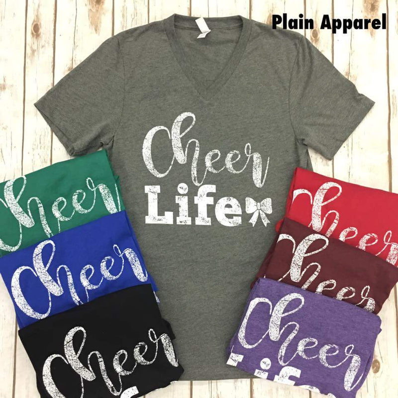 Cheer Life V-neck - Bless UR Heart Boutique