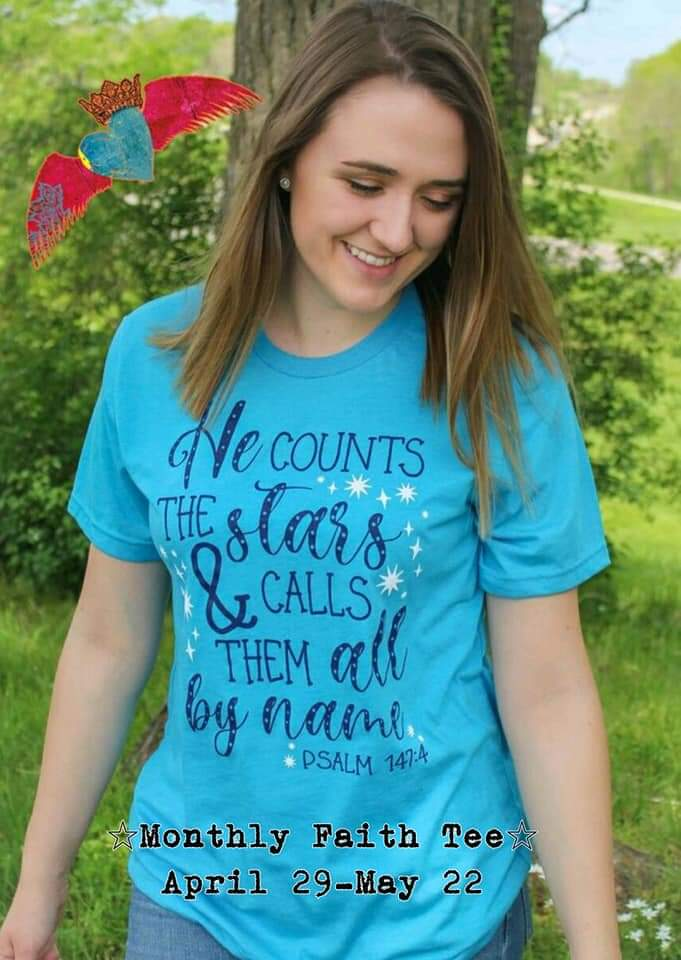 He Counts the Stars Tee - Bless UR Heart Boutique