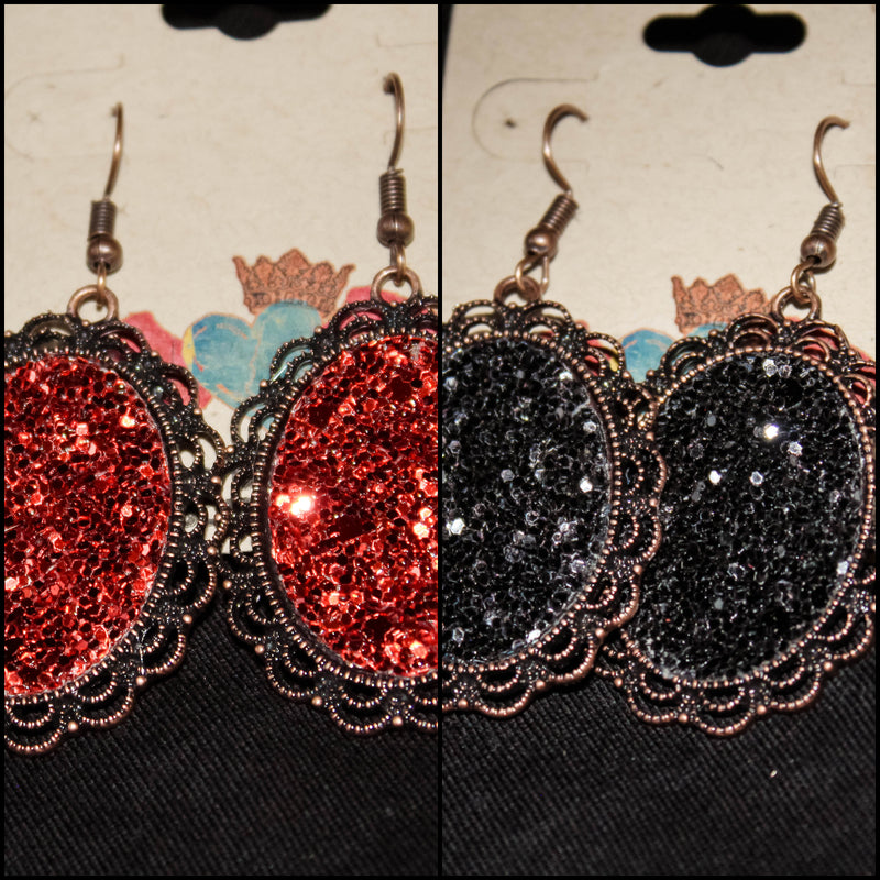 Vintage Oval Sparkle EAR127