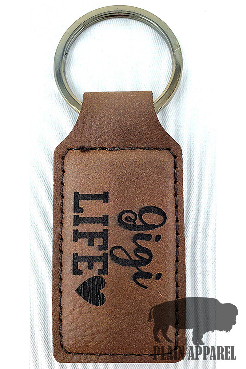 Gigi Life ( Heart ) Engraved Keychain - Bless UR Heart Boutique