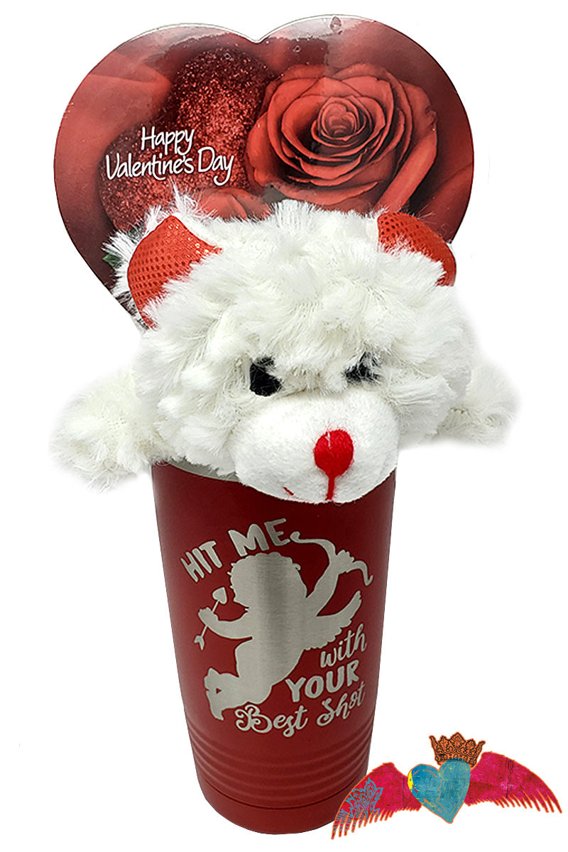 Cupid Best Shot Valentine Bouquet - Bless UR Heart Boutique