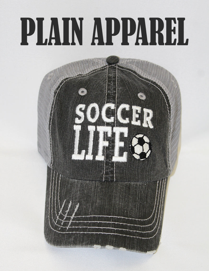 Soccer Life Ball Cap - Bless UR Heart Boutique