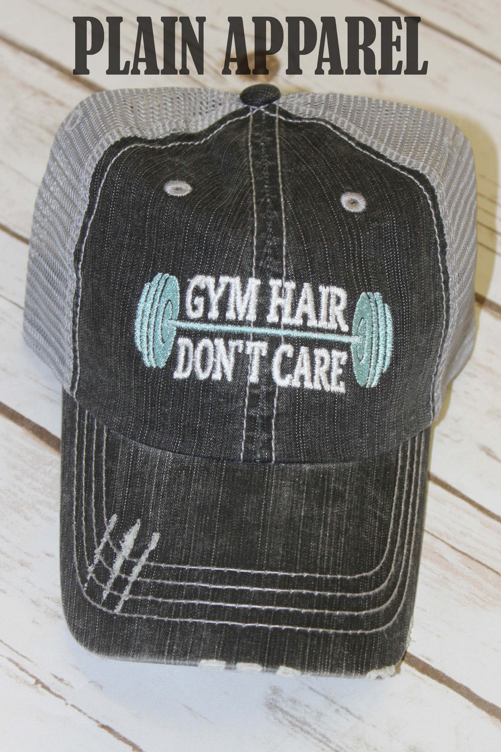 Gym Hair Don't Care Ball Cap - Bless UR Heart Boutique