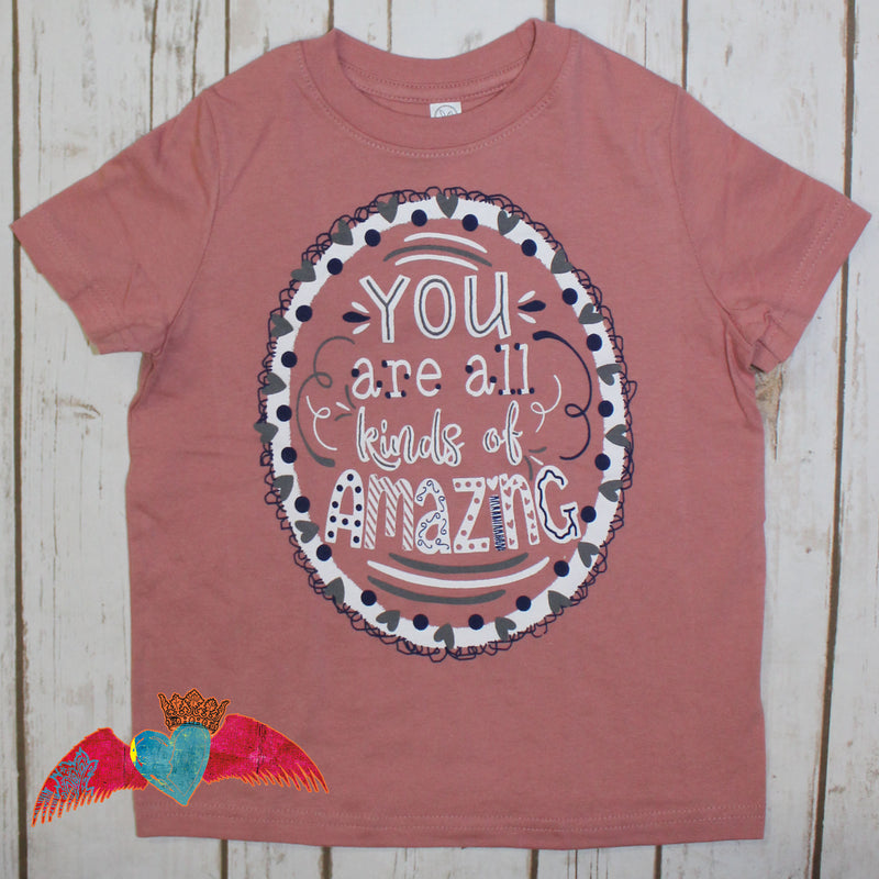 KID You Are All Kinds Of Amazing Mauve Tee - Bless UR Heart Boutique