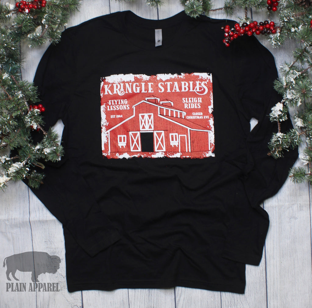 Kringle Stables Long Sleeve Tee - Bless UR Heart Boutique