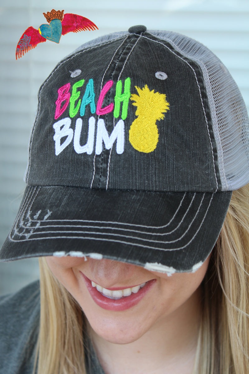 Beach Bum Ball Cap - Bless UR Heart Boutique