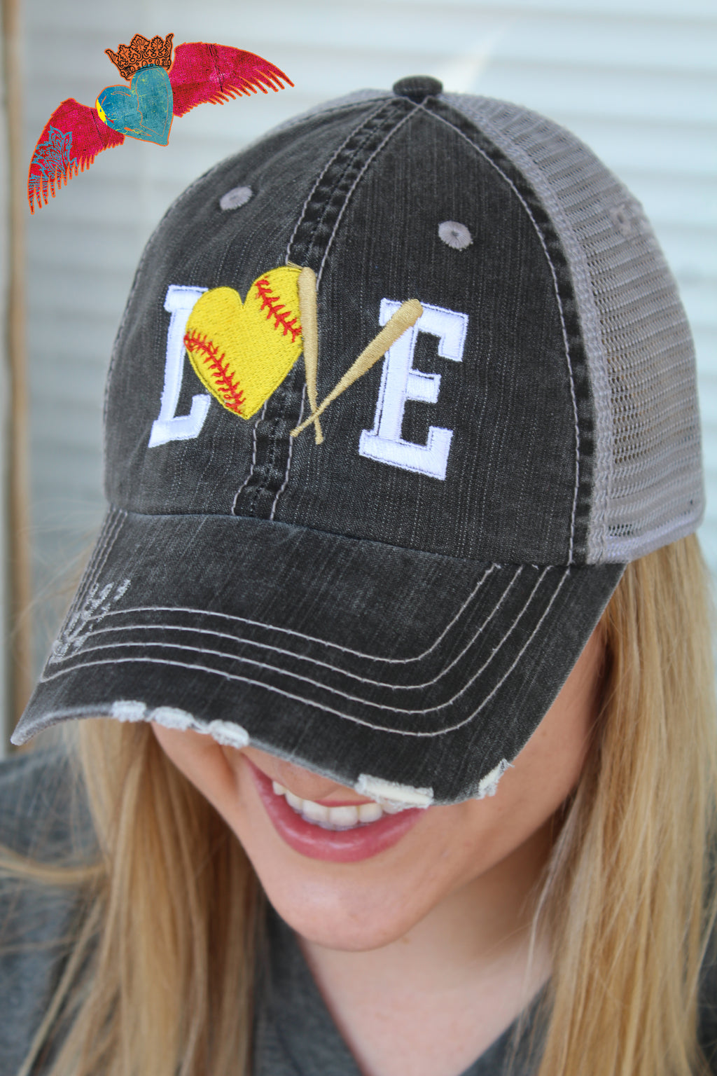 Softball Love Ball Cap - Bless UR Heart Boutique
