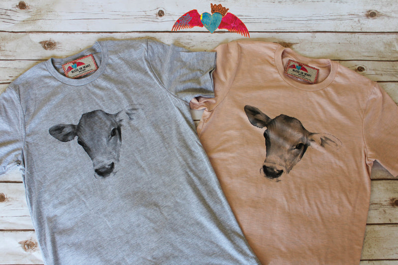 Cow Head Tee - Bless UR Heart Boutique