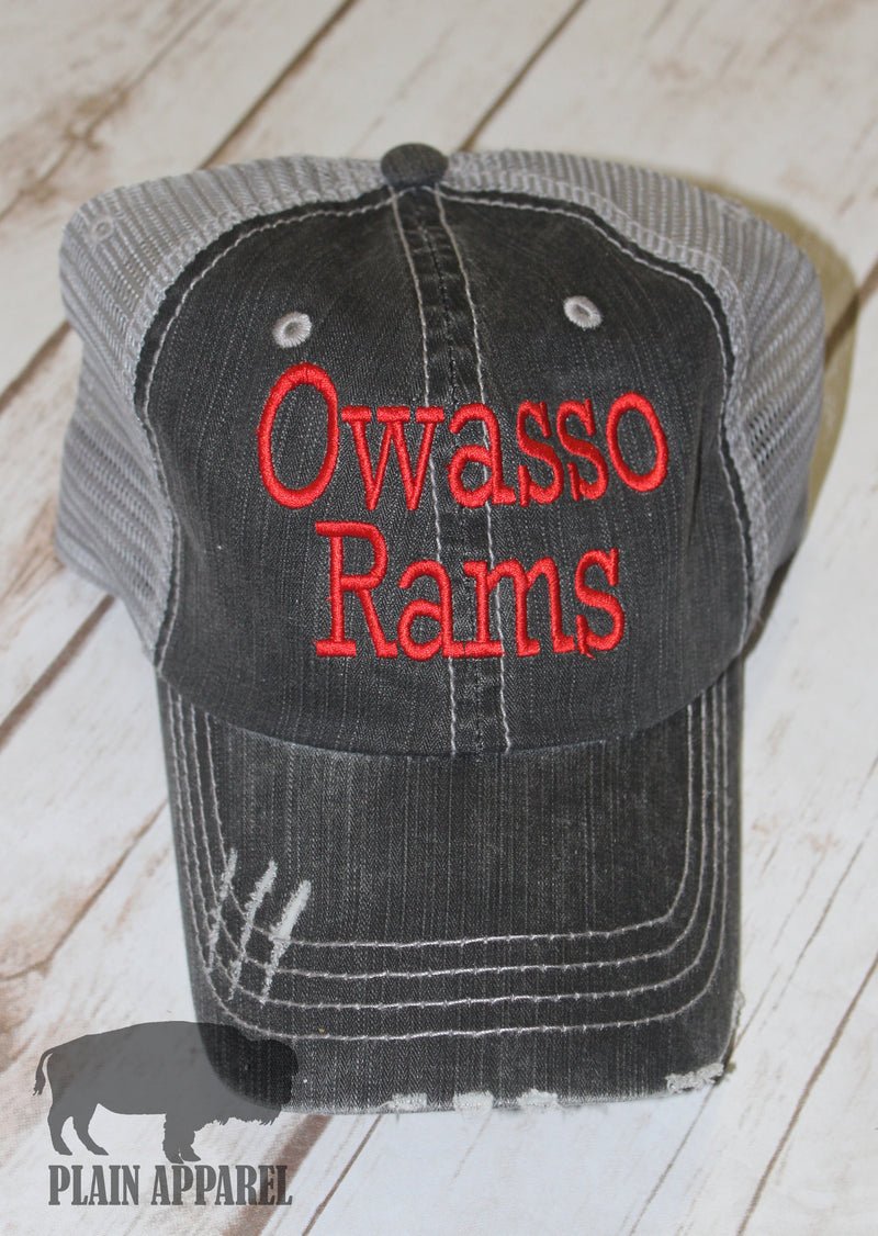Custom School Name & Mascot Ball Cap - Bless UR Heart Boutique