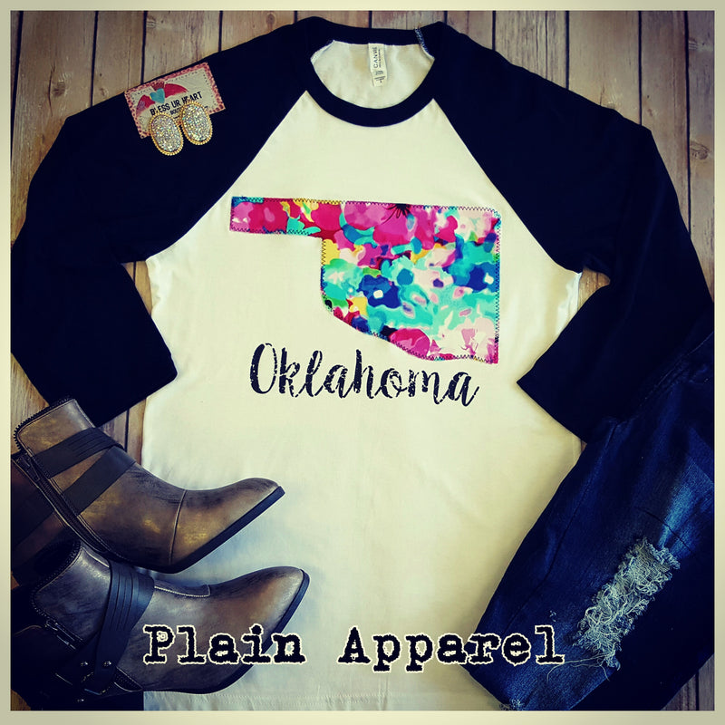 Oklahoma Watercolor Raglan