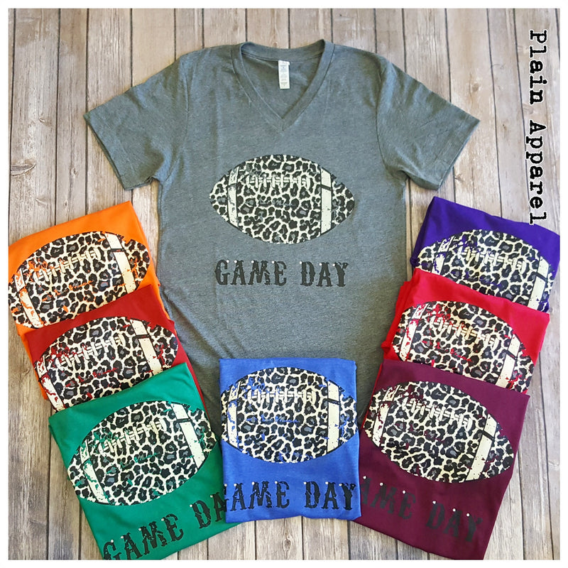 Leopard Football V-Neck 🏈