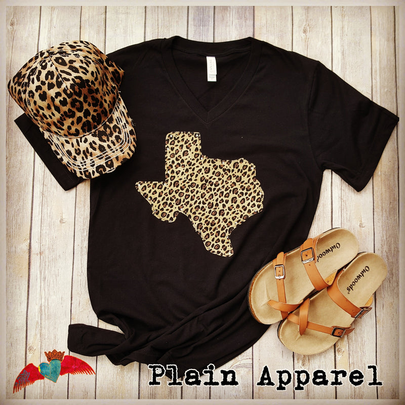 Texas Leopard V-Neck - Bless UR Heart Boutique