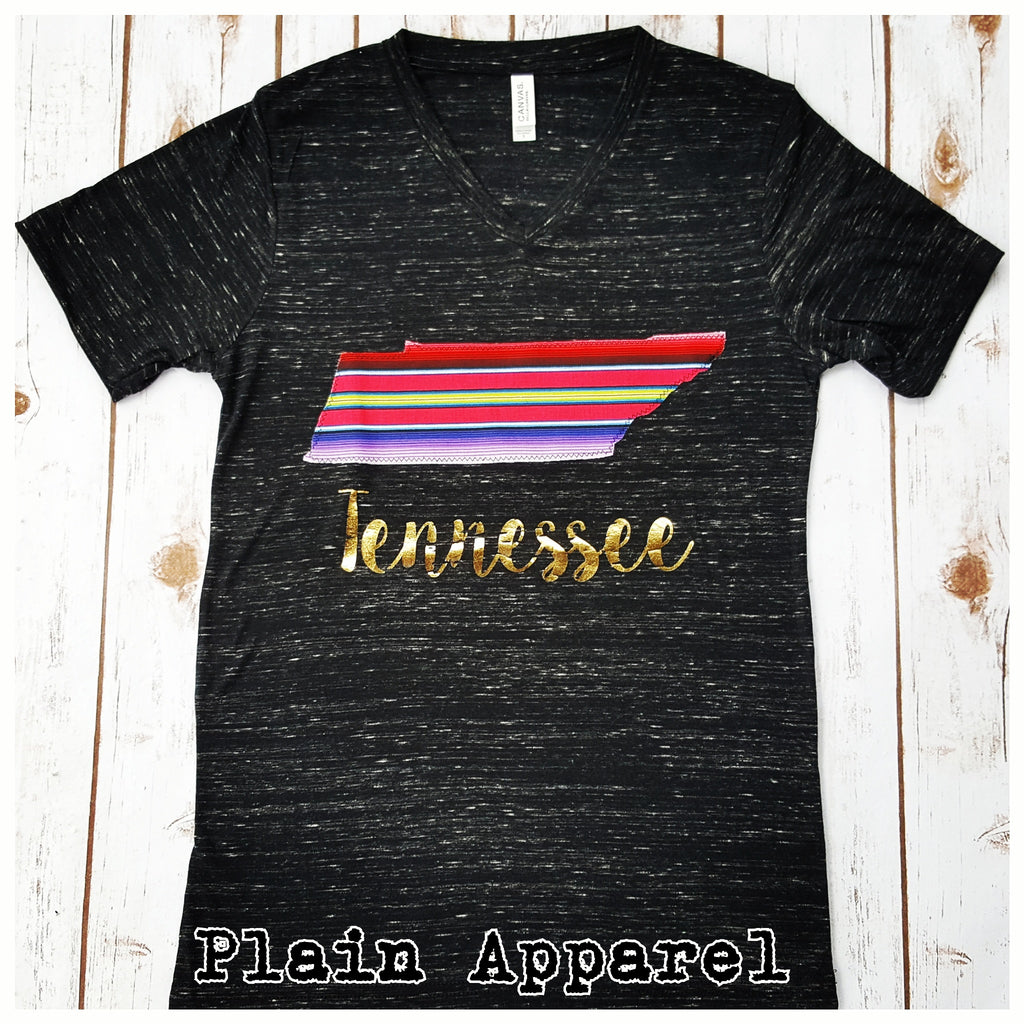 Tennessee Serape V-Neck - Bless UR Heart Boutique