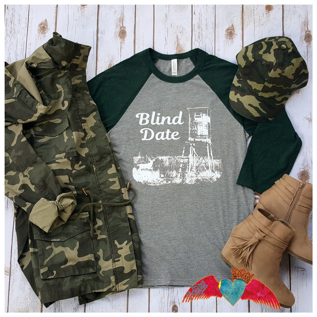 Blind Date Raglan - Bless UR Heart Boutique