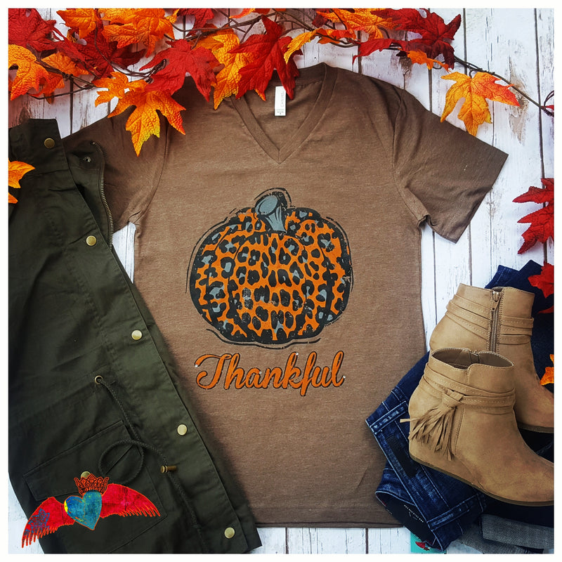 Thankful Leopard Pumpkin - Bless UR Heart Boutique
