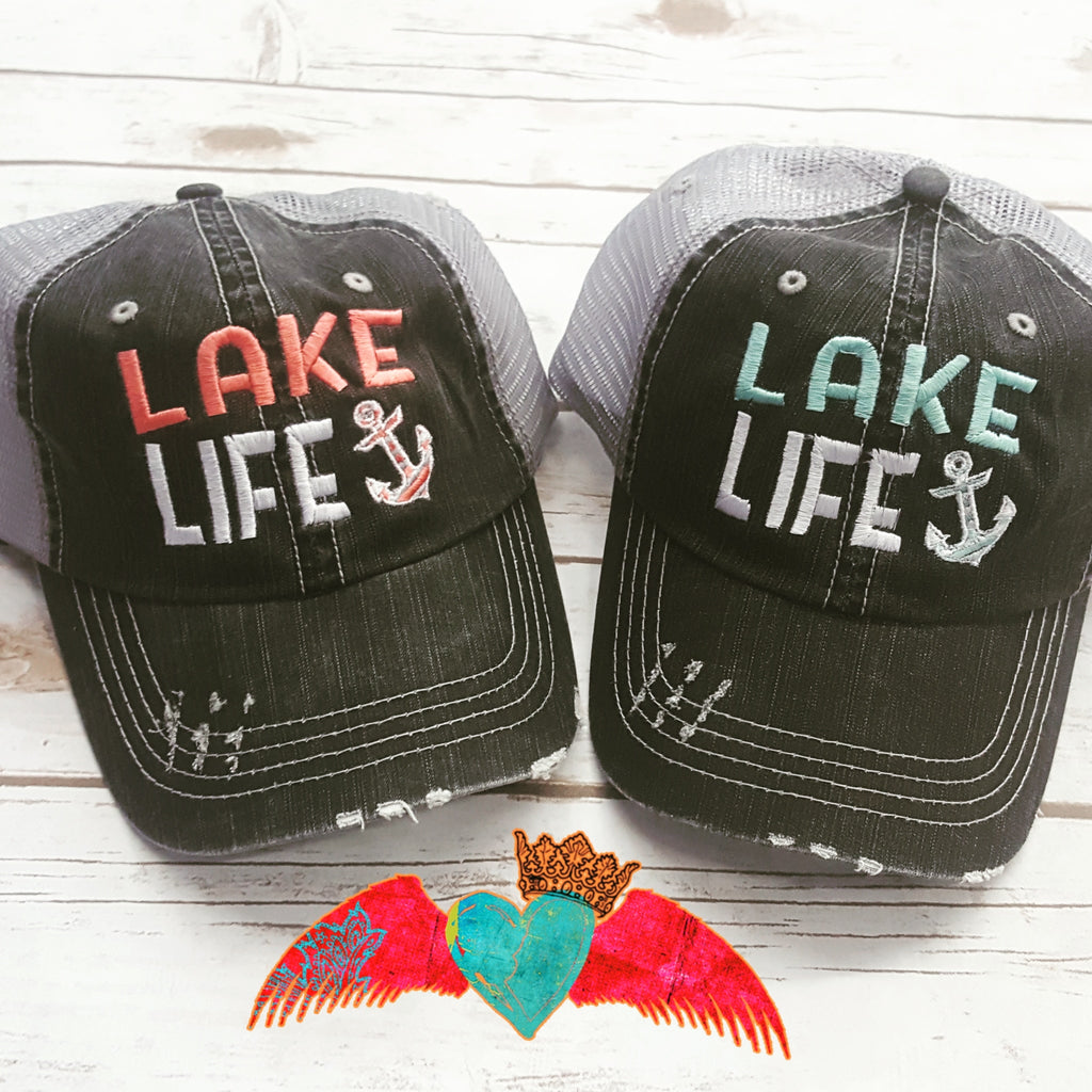 Lake Life Hats - Bless UR Heart Boutique